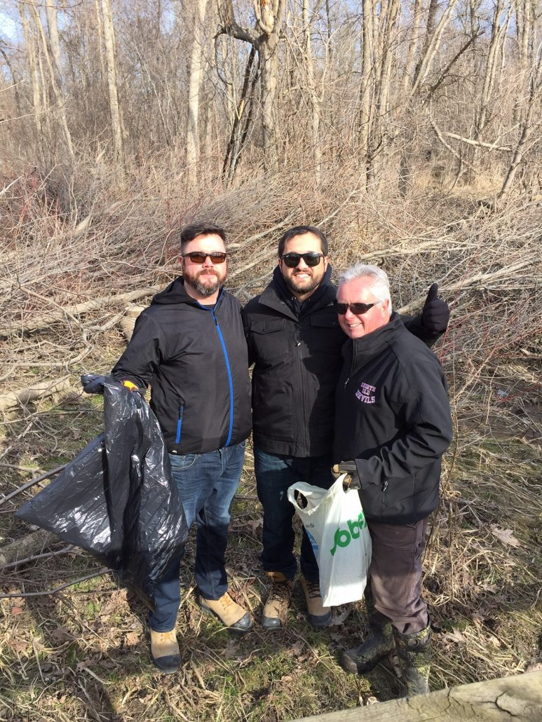 Three cement emploees at the Rattray Marsh Clean-Up