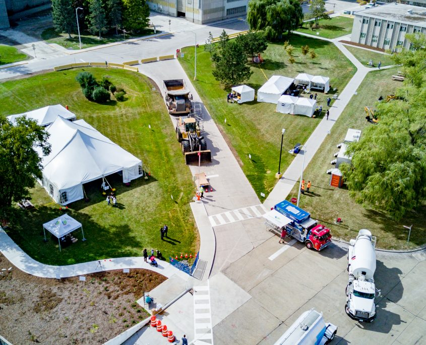 Bird's Eye View of the CRH Mississauga Open House