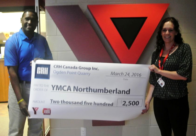 CRH Canada Ogden Point Quarry makes a difference - YMCA Northumberland